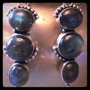 Jewelry - Natural Labradorite Earrings